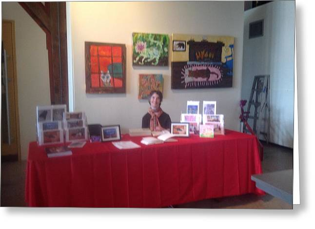 Greeting Card featuring the photograph Table At Project Everybody by AJ Brown