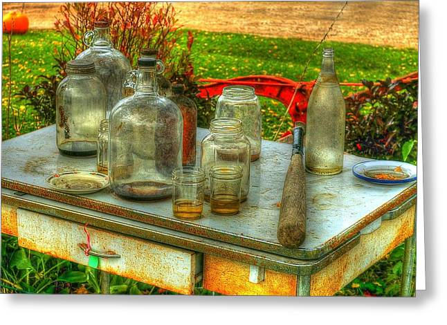 Table Collections Greeting Card by Randy Pollard