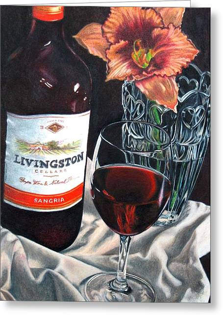 Table For One Greeting Card by Michelle Harrington