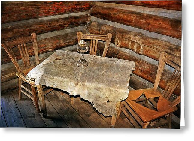 Table For Three Greeting Card by Marty Koch
