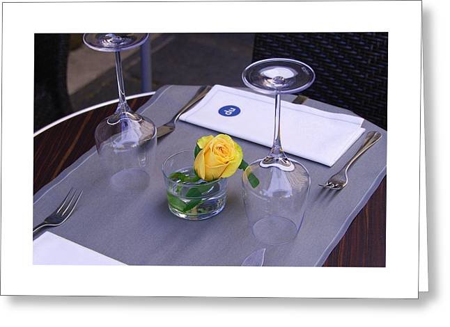 Table For Two Greeting Card by Allen Beatty