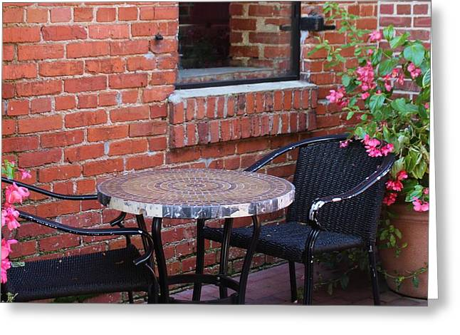Greeting Card featuring the photograph Table For Two by Cynthia Guinn