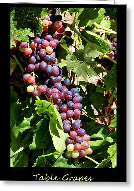 Table Grapes Poster Greeting Card