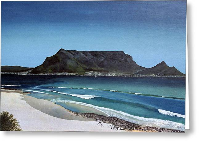 Table Mountain Greeting Card by Andre Pillay
