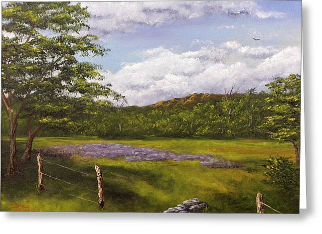 Table Mountain Meadow Greeting Card by Darice Machel McGuire