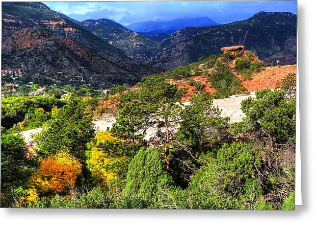 Greeting Card featuring the photograph Table Rock To Pike's Peak by Lanita Williams