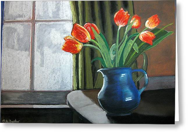 Table Top Tulips Greeting Card