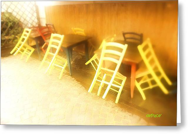 Tables And Chairs Greeting Card