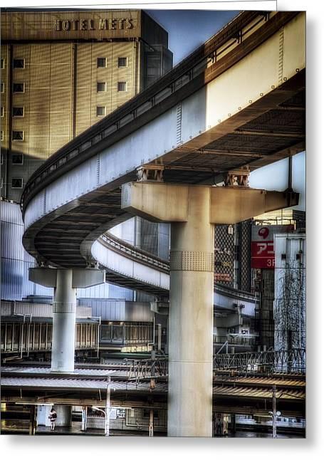 Tachikawa Monorail I Greeting Card by Rscpics