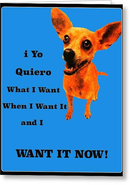 Taco Bell Dog Greeting Card by Jim Markiewicz
