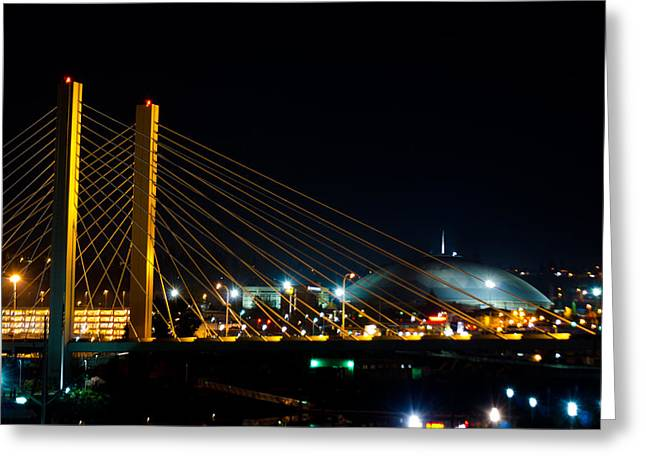 Tacoma Dome And Bridge Greeting Card by Tikvah's Hope
