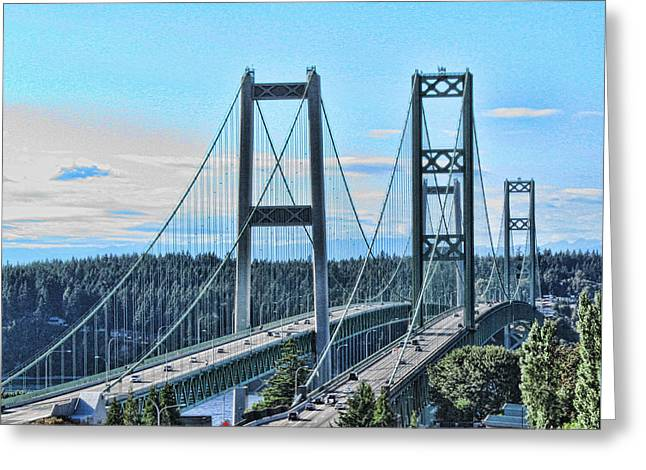 Tacoma Narrows Bridge 51 Greeting Card