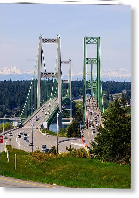 Tacoma Narrows Bridge Greeting Card