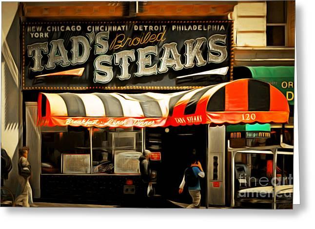 Tads Broiled Steaks Restaurant San Francisco 5d17955brun Greeting Card