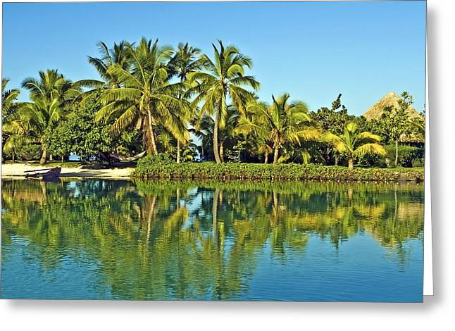 Tahitian Lagoon Greeting Card