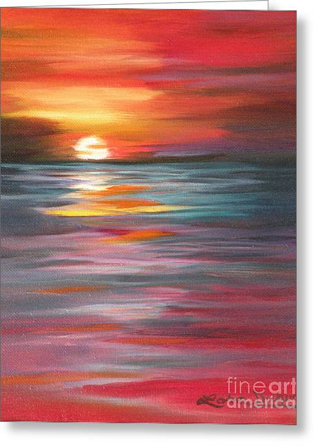 Tahitian Sunset Greeting Card