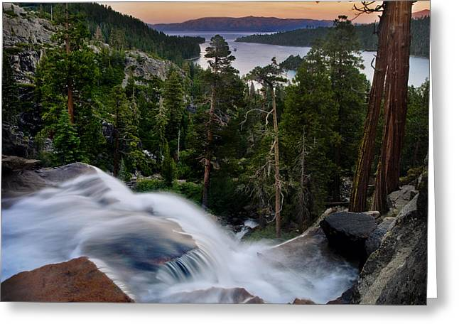 Tahoe Eagle Falls Sunrise 2 Greeting Card