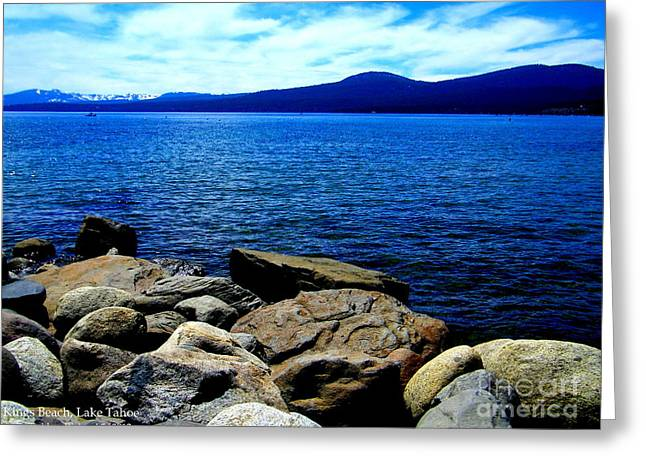Greeting Card featuring the photograph Tahoe Magic by Bobbee Rickard