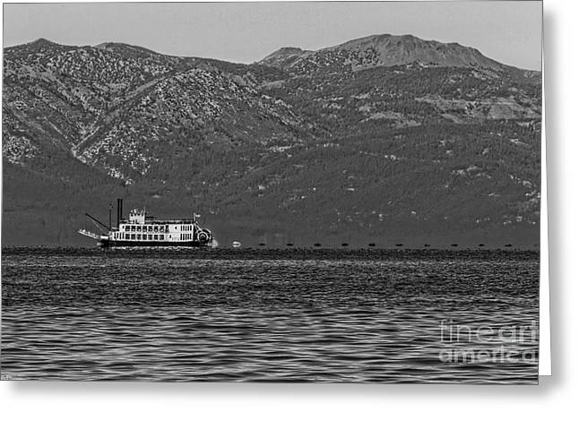 Tahoe Queen Black And White Greeting Card