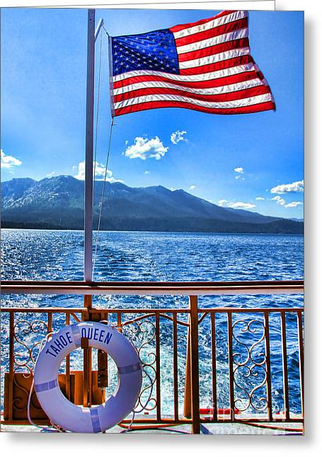 Tahoe Queen Lake Tahoe By Diana Sainz Greeting Card