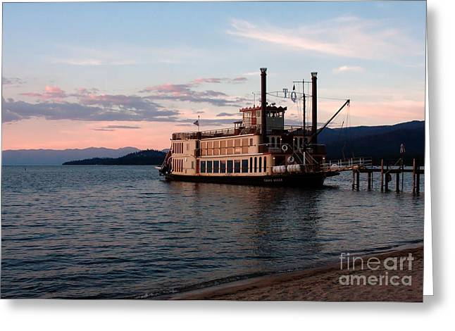 Greeting Card featuring the photograph Tahoe Queen Riverboat On Lake Tahoe California by Paul Topp