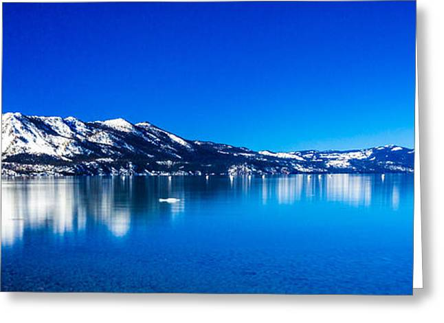 Tahoe Reflection Greeting Card by Mike Lee