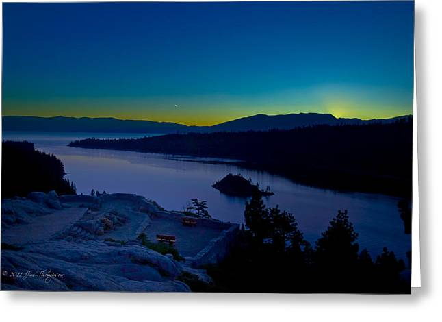 Tahoe Sunrise Greeting Card