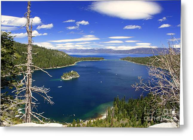 Tahoe's Emerald Bay Greeting Card