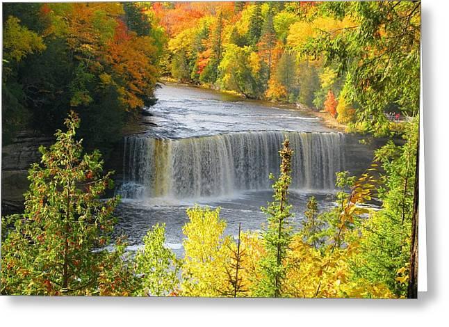Tahquamenon Falls In October Greeting Card