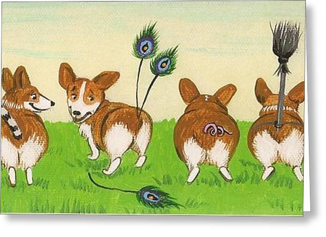 Tail Competition Greeting Card