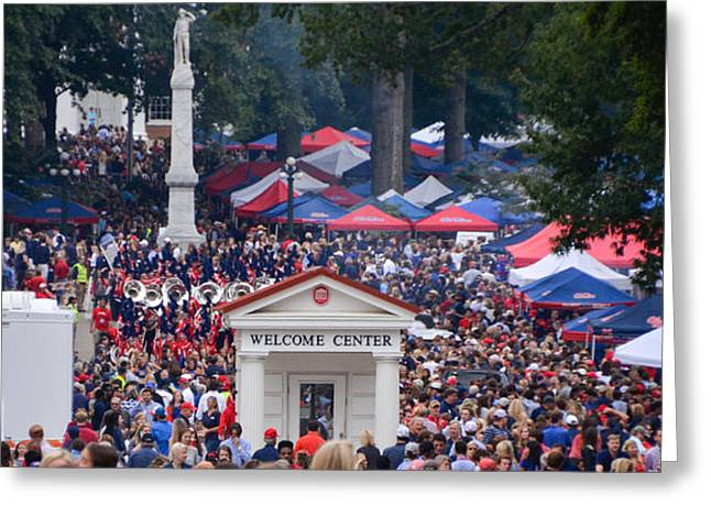 Tailgating At Ole Miss Greeting Card by Luke Pickard