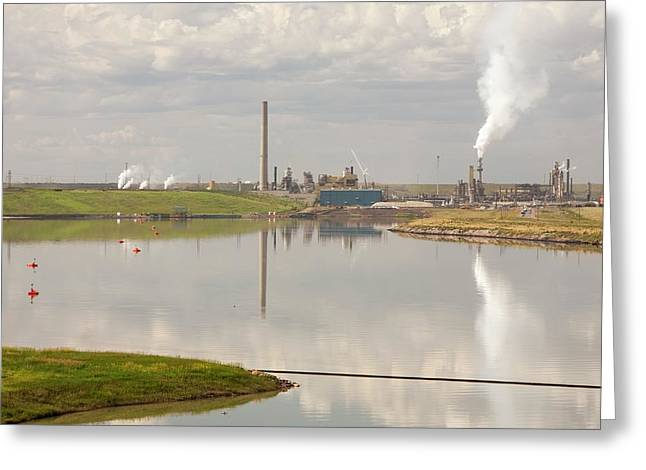 Tailings Pond Syncrude Tar Sands Mine Greeting Card by Ashley Cooper
