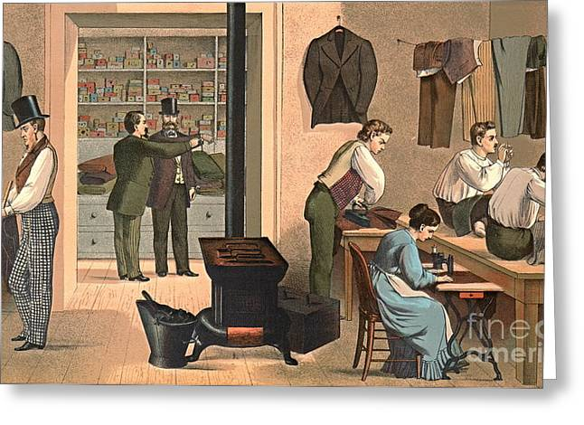 Tailor Shop 1874 Greeting Card by Padre Art