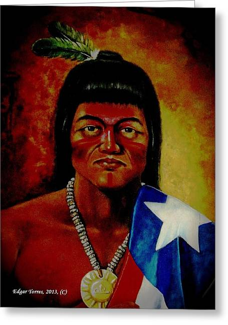 Taino Boricua Greeting Card