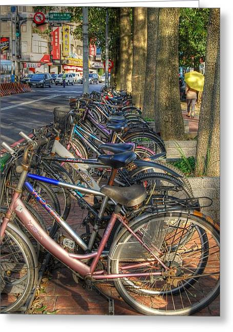 Taiwan Bikes Greeting Card