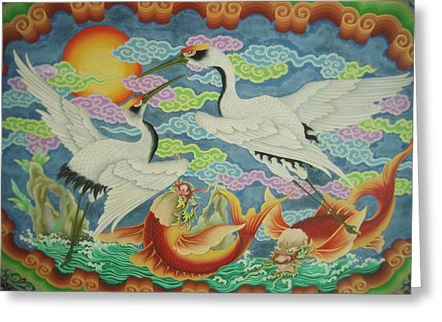 Taiwan, Peimen, Nankunshen Temple Greeting Card
