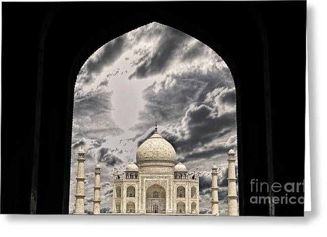 Taj Mahal -a Monument Of Love Greeting Card by Vineesh Edakkara