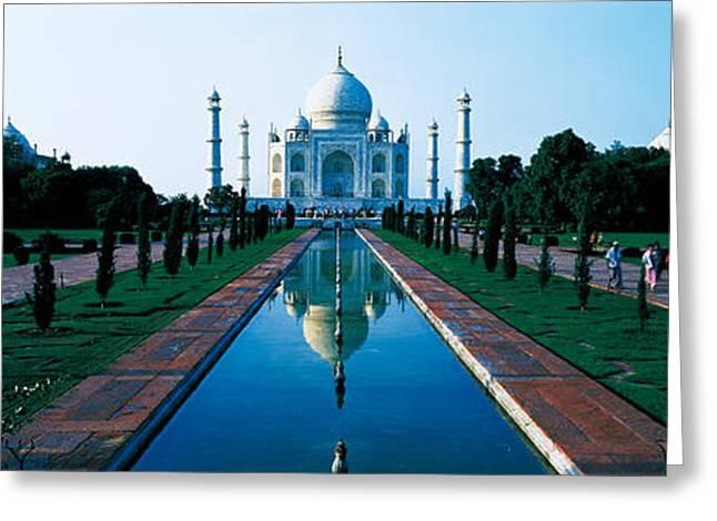 Taj Mahal Agra India Greeting Card by Panoramic Images