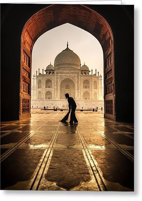 Taj Mahal Cleaner Greeting Card