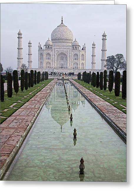 Taj Mahal Early Morning Greeting Card by John Hansen
