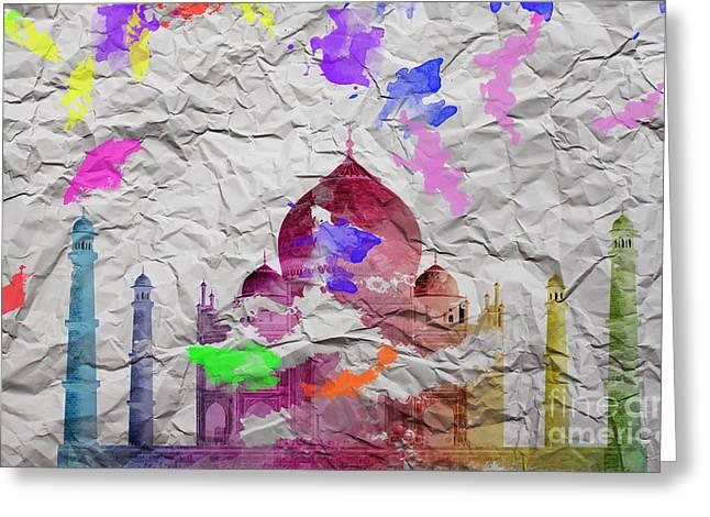 Taj Mahal Greeting Card by Image World