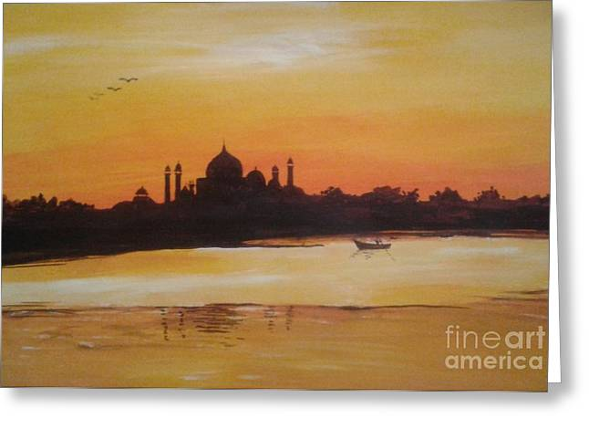 taj Mahal in the morning Greeting Card