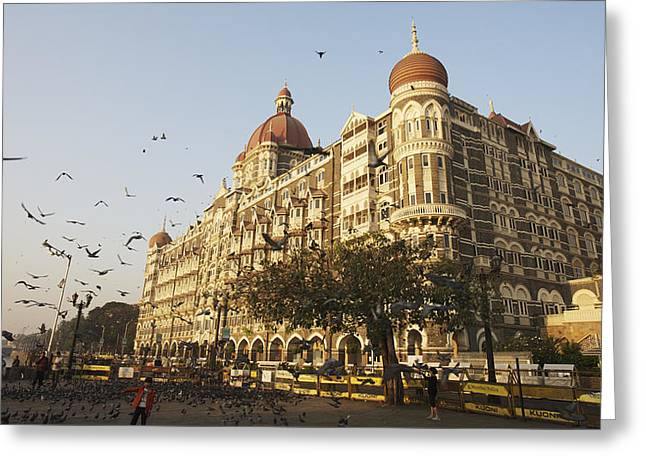 Taj Mahal Palace Hotel Mumbai, India Greeting Card