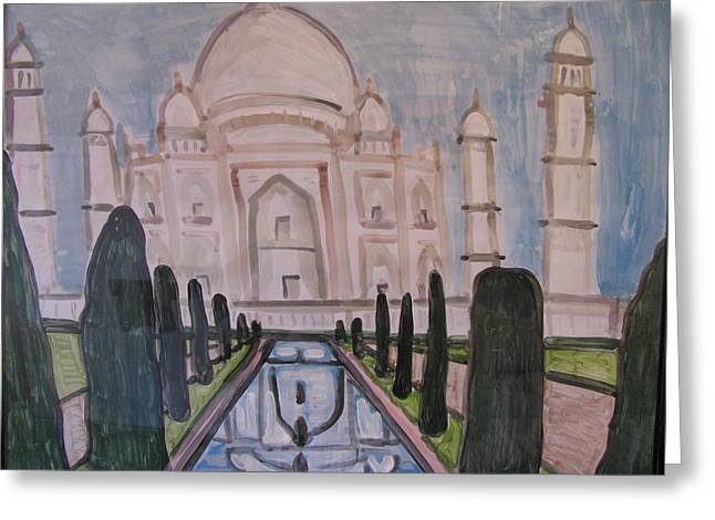 Taj Mahal Greeting Card by Vikram Singh