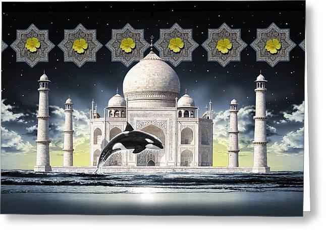 Greeting Card featuring the digital art Taj by Scott Ross