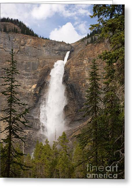 Greeting Card featuring the photograph Takakkaw Falls by Chris Scroggins