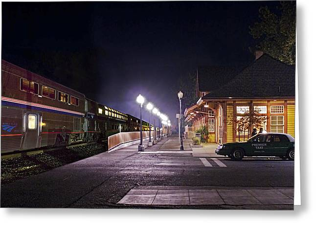 Take A Ride On Amtrak Greeting Card