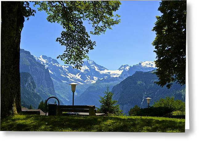 Greeting Card featuring the photograph Take A Seat by Marty  Cobcroft