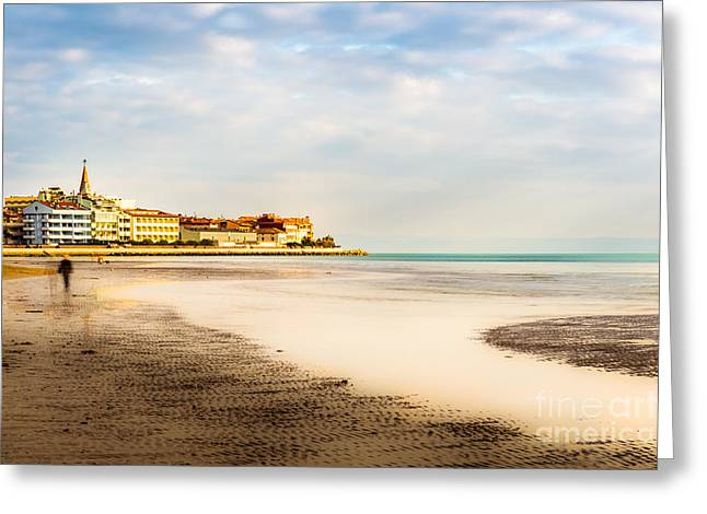 Take A Walk At The Beach Greeting Card