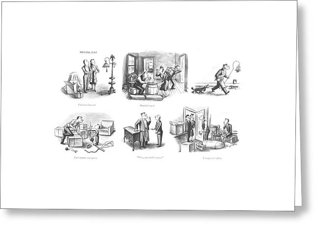 Take It Or Leave It?  Hurried Snack  Last-minute Greeting Card by William Steig